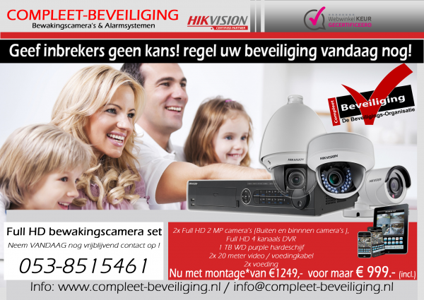 Hikvision Turbo FULL HD* AKTIE * Kit 1080P