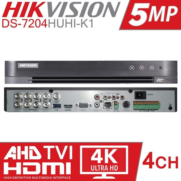 Hikvision DS-7204HUHI-K1, 4 kanaals DVR Turbo 4.0