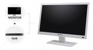 "Hikvision DS-7600NI-E1/A, 8 kanaals NVR in een 22"" LCD scherm"